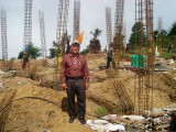 Mr.Phurita Sherpa - the man behind the construction process, with almost half century construction experience!